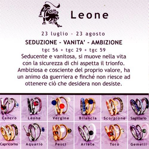Gioielli brosway anello tring zodiaco leone tgc562959 ebay - Leone e scorpione a letto ...