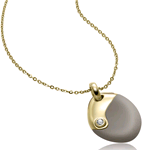 BREIL STEEL COLLANA SENSE OF TOUCH IP GOLD BEIGE TJ1670